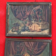 Arte: LITOGRAFIAS ANTIGUAS EN CARTON BODEGONES DE 46 X 36 CMS.. Lote 222740100