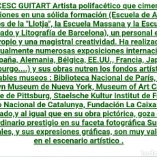 Arte: LITOGRAFÍA ENMARCADA DE FRANCESC GUITART. 87. LITOGRAFÍA 22/45. VERIFICADA POR D' IVORI.. Lote 222974367