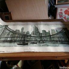 Arte: BERNARD BUFFET - BROOKLYN BRIDGE. Lote 223481561