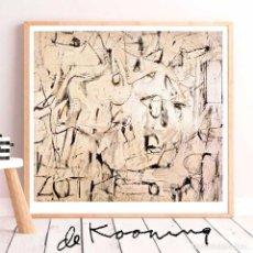 Arte: WILLEM DE KOONING. GRAN FORMATO 71X65 NUEVA. Lote 223675896