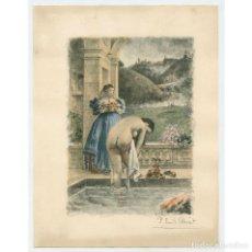 Arte: PAUL-ÉMILE BÉCAT (1885–1960) GRABADO ERÓTICO 17,5X23 CM.. Lote 223866545
