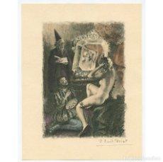 Arte: PAUL-ÉMILE BÉCAT (1885–1960) GRABADO ERÓTICO 17,5X23 CM.. Lote 223866836