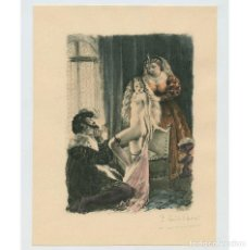 Arte: PAUL-ÉMILE BÉCAT (1885–1960) GRABADO ERÓTICO 17,5X23 CM.. Lote 223867317