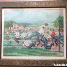 Arte: JOSÉ ARRUE , ANTIGUA LITOGRAFÍA A COLOR ENMARCADA ,45X35CM. Lote 224568241