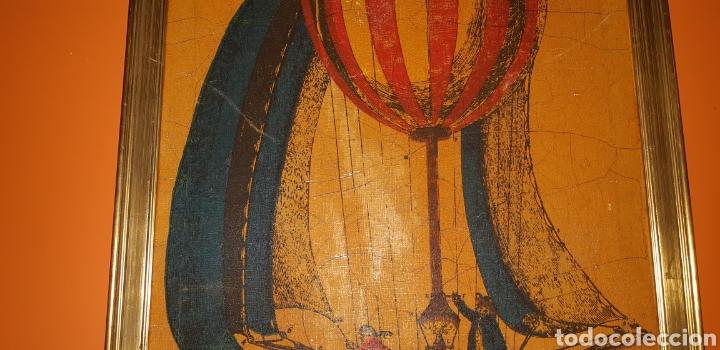 Arte: Litografia de un globo en tela sxix - Foto 4 - 224679730