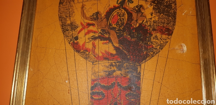 Arte: Litografia en tela sxix globo aerostático - Foto 3 - 224681678