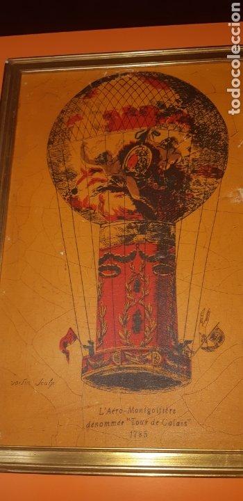 Arte: Litografia en tela sxix globo aerostático - Foto 7 - 224681678