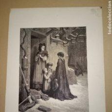 Arte: LITOGRAFÍA G. DORE LA CIGARRA Y LA HORMIGA. Lote 224796188