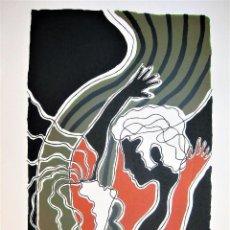 Arte: LITOGRAFÍA DE PEDRO SOBRADO, HOMENAJE A GARCÍA LORCA FIRMADA A LAPIZ Y NUMERADA 43/150, MIDE 36X52. Lote 225224735