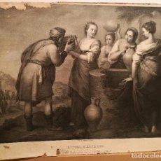 Arte: REBECA Y ELEIZER POR FLORENTINO DECRAENE (1793-1852). 1826-29. Lote 225776165