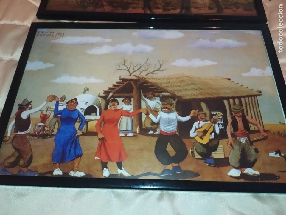 Arte: LOTE TRES LITOGRAFIA ORIGINAL DE F.MOLINA CAMPOS ENMARCADAS CRISTAL - Foto 14 - 225919550
