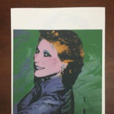 Arte: ANDY WARHOL LITOGRAFIA 57 X 38 ARCHES FRANCE TIMBRI GALLERIE D' ARTE. Lote 226084740