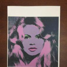 Arte: ANDY WARHOL LITOGRAFIA 57 X 38 ARCHES FRANCE TIMBRI GALLERIE D' ARTE. Lote 226085175