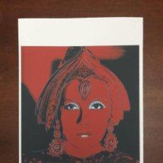 Arte: ANDY WARHOL LITOGRAFIA 57 X 38 ARCHES FRANCE TIMBRI GALLERIE D' ARTE. Lote 226085275