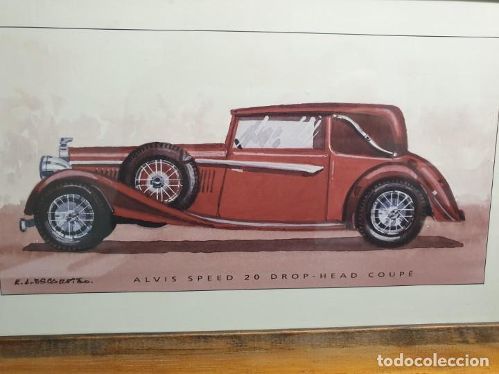 Arte: Litografía de E.A. Escarpizo. Coche Alvis Speed 20 Drop-Head Coupé. (Envío 4,31€) - Foto 2 - 226146000