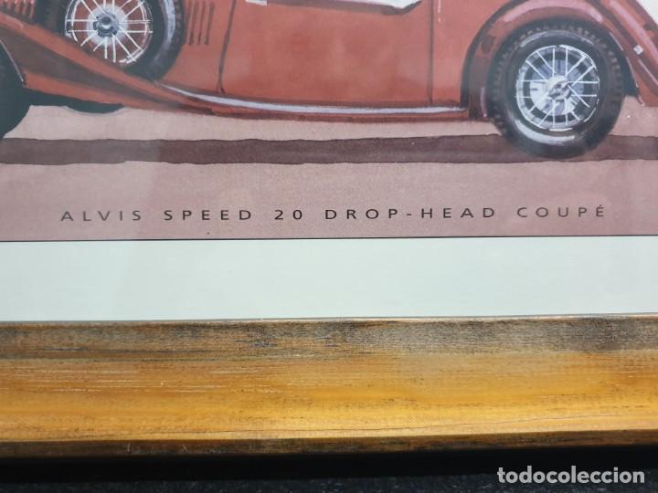 Arte: Litografía de E.A. Escarpizo. Coche Alvis Speed 20 Drop-Head Coupé. (Envío 4,31€) - Foto 4 - 226146000