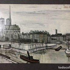 Arte: LITOGRAFÍA ENMARCADA CON MARCO DE ALUMINIO - VINTAGE - BERNARD BUFFET / PARIS LA CITE / 1956. Lote 226671455