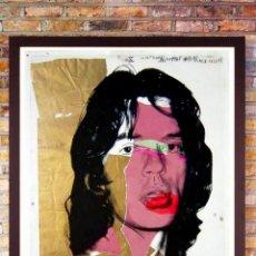 Arte: ANDY WARHOL-MICK JAGGER-LITOGRAFÍA OFFSET EN COLOR.DEL ORIGINAL DE 1975.EDICIÓN- LIMITADA-83,7 X 56. Lote 276229103