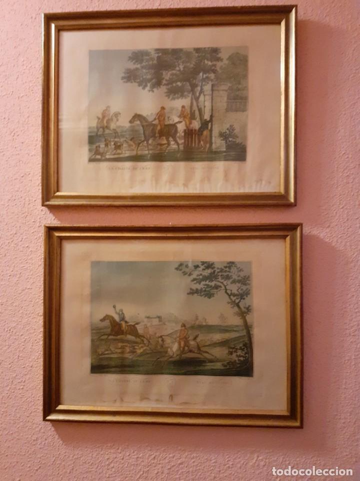 2 LITOGRAFÍAS INGLESAS S. XIX (Arte - Litografías)