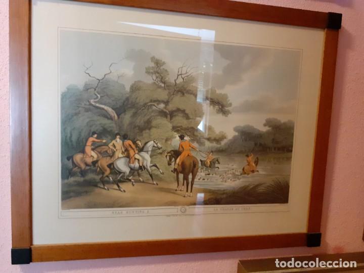 Arte: 4 LITOGRAFÍAS INGLESAS DE CAZA - Foto 4 - 228260550