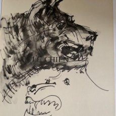 Arte: CABEZA DE LEÓN. LITOGRAFIA ORIGINAL DE PICASSO PUBLICADA EN 1957. Lote 228591575