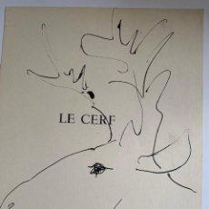Arte: LE CERF, LITOGRAFIA ORIGINAL DE PICASSO PUBLICADA EN 1957. Lote 228591825