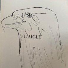 Arte: L'AIGLE, LITOGRAFIA ORIGINAL DE PICASSO PUBLICADA EN 1957. Lote 228592125