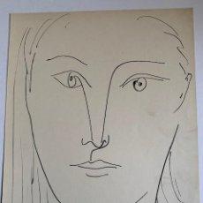 Arte: LITOGRAFIA ORIGINAL DE PICASSO PUBLICADA EN 1957. Lote 228592995