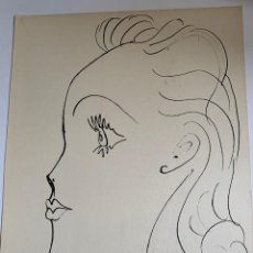 Arte: JOVEN DE PERFIL. LITOGRAFIA DE PICASSO PUBLICADA EN 1957. Lote 228593295