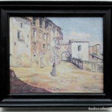 Arte: JOSEP SERRA SANTA (SERRANTA), 1916-1998. REPRODUCCIÓN DE ÓLEO INÉDITO. IMPRESA Y ENMARCADA MADERA. Lote 189325205