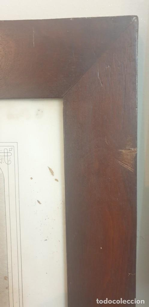 Arte: Litografia siglo xix con marco de caoba niño de la bola o salvador del mundo - Foto 9 - 229804800
