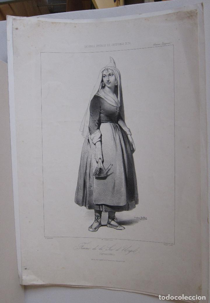 Arte: Femme de la Seu dUrgell. Catalogne. dibujo de Pharamond Blanchard. Litografia Dollet. París, 1842 - Foto 3 - 230203830