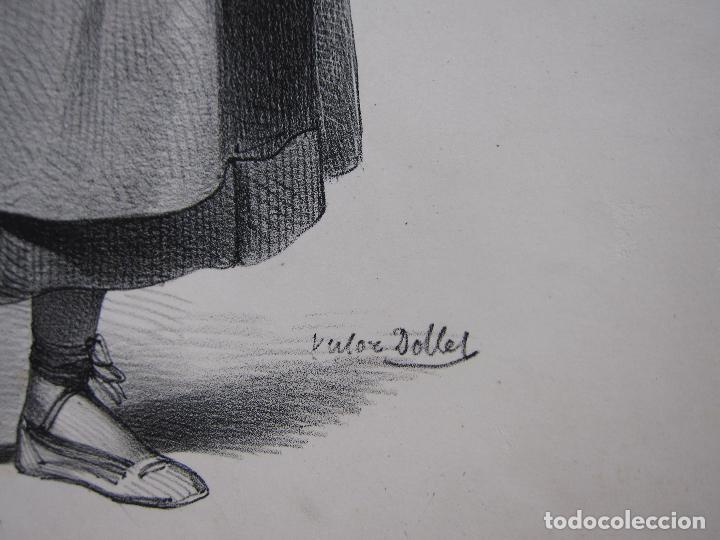 Arte: Femme de la Seu dUrgell. Catalogne. dibujo de Pharamond Blanchard. Litografia Dollet. París, 1842 - Foto 7 - 230203830