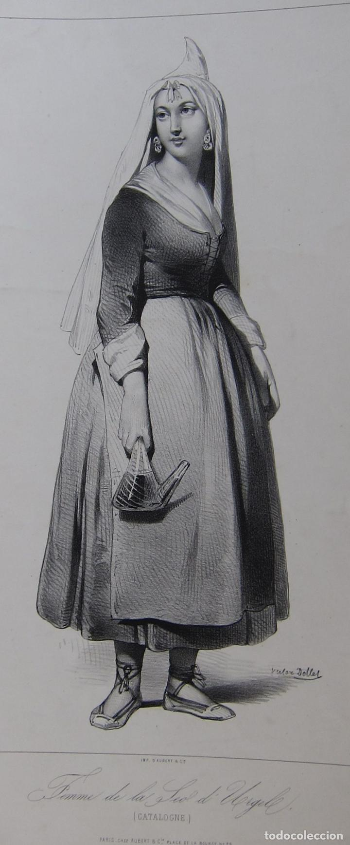FEMME DE LA SEU D'URGELL. CATALOGNE. DIBUJO DE PHARAMOND BLANCHARD. LITOGRAFIA DOLLET. PARÍS, 1842 (Arte - Litografías)