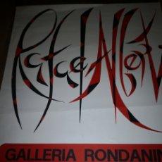 Arte: GALLERIA RONDANINI RAFAEL ALBERTI GALERÍA CARTEL POSTER 58X95. Lote 230942395