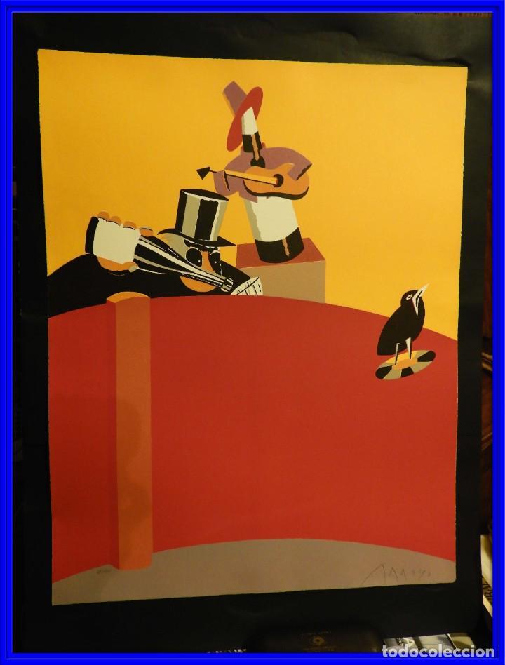 LITOGRAFIA DE EDUARDO ARROYO EN CINCO COLORES 1986 (Arte - Litografías)