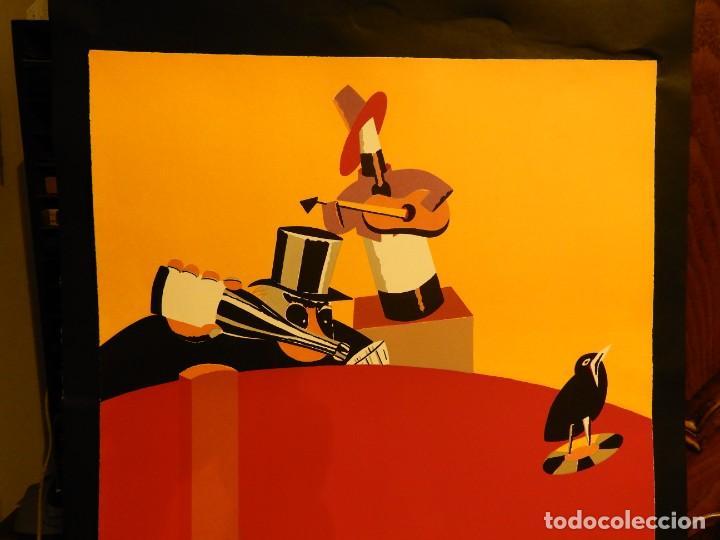 Arte: LITOGRAFIA DE EDUARDO ARROYO EN CINCO COLORES 1986 - Foto 2 - 231548660