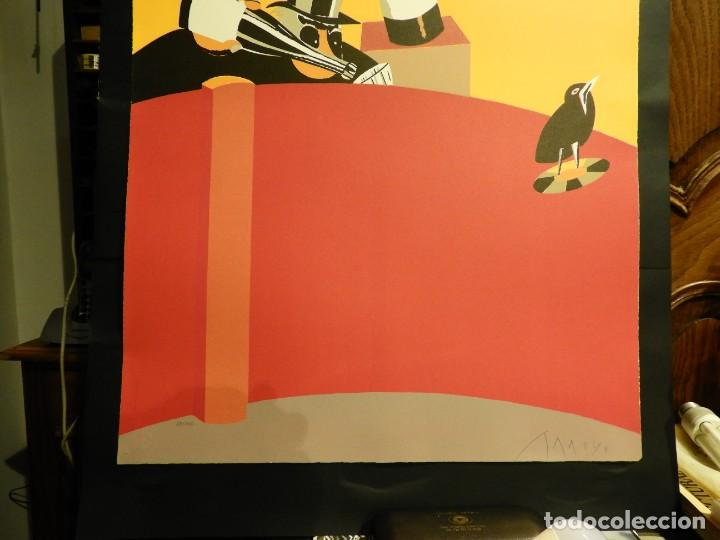 Arte: LITOGRAFIA DE EDUARDO ARROYO EN CINCO COLORES 1986 - Foto 3 - 231548660