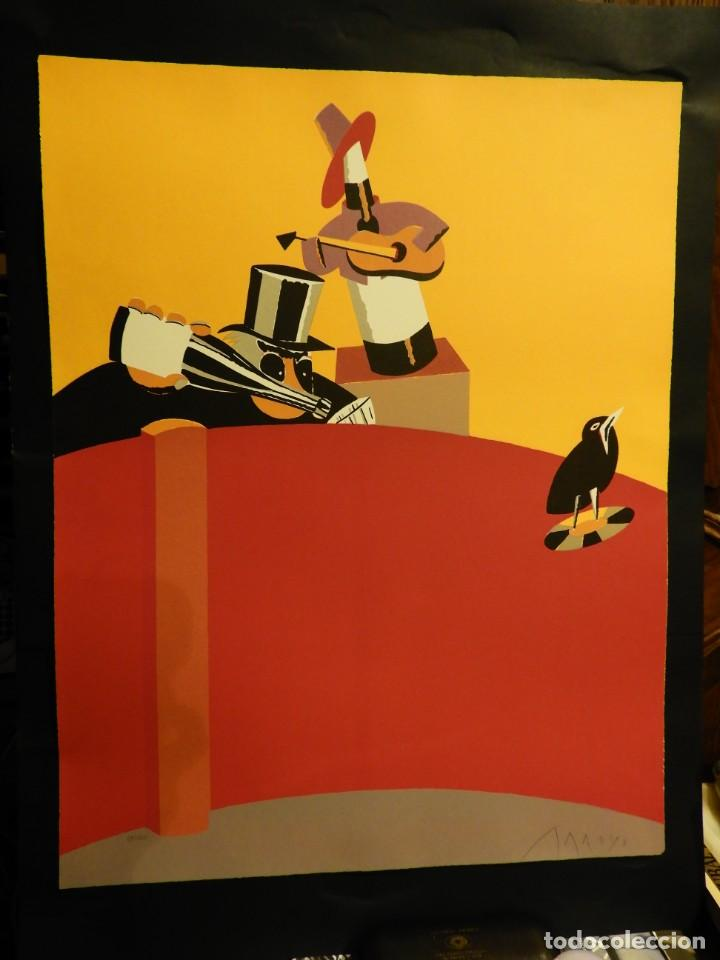 Arte: LITOGRAFIA DE EDUARDO ARROYO EN CINCO COLORES 1986 - Foto 7 - 231548660