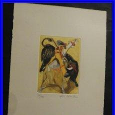 Arte: GRABADO DE JOSE CABALLERO AL AGUAFUERTE Y AGUATINTA. Lote 231548805