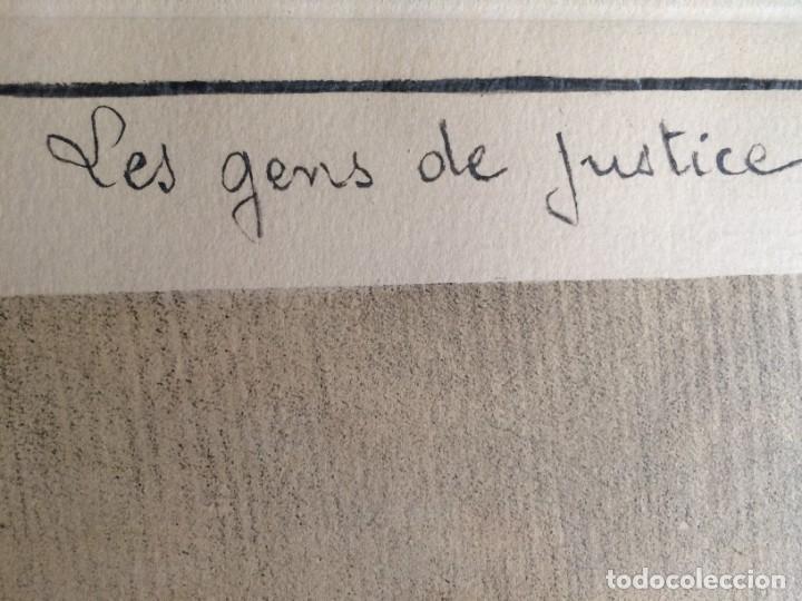 Arte: Honoré Daumier (1808-1879) - Les Gens de Justice (Siglo XIX). Editión Hautecoeur Paris - Foto 12 - 231809805
