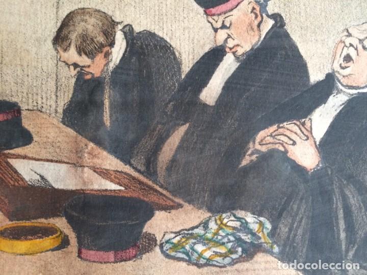 HONORÉ DAUMIER (1808-1879) - LES GENS DE JUSTICE (SIGLO XIX). EDITIÓN HAUTECOEUR PARIS (Arte - Litografías)