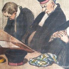 Arte: HONORÉ DAUMIER (1808-1879) - LES GENS DE JUSTICE (SIGLO XIX). EDITIÓN HAUTECOEUR PARIS. Lote 231809805