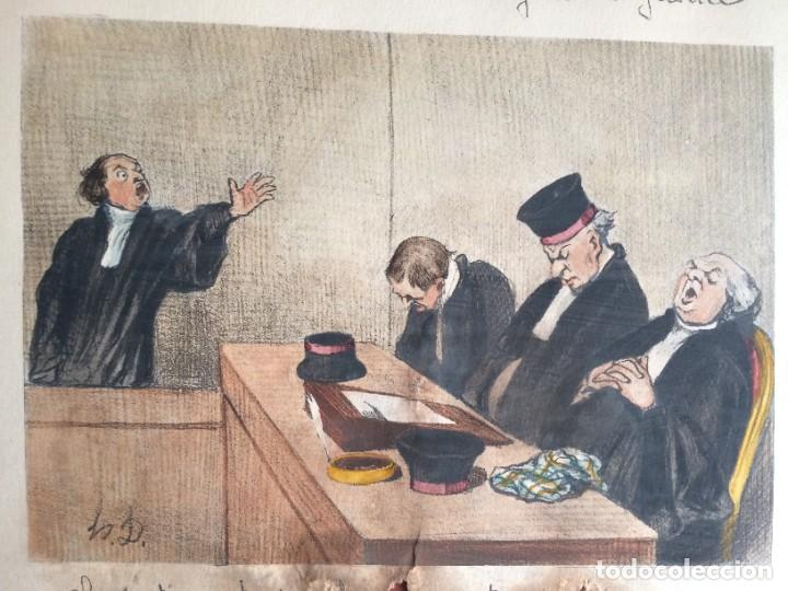 Arte: Honoré Daumier (1808-1879) - Les Gens de Justice (Siglo XIX). Editión Hautecoeur Paris - Foto 3 - 231809805