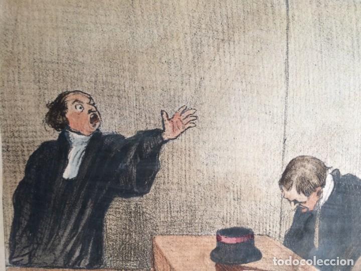 Arte: Honoré Daumier (1808-1879) - Les Gens de Justice (Siglo XIX). Editión Hautecoeur Paris - Foto 5 - 231809805