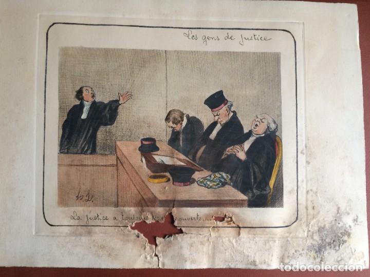 Arte: Honoré Daumier (1808-1879) - Les Gens de Justice (Siglo XIX). Editión Hautecoeur Paris - Foto 11 - 231809805