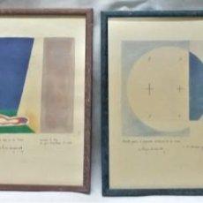 Arte: COLECCIÓN DE 4 LITOGRAFÍAS ENMARCADAS Y FIRMADAS DEL PINTOR CHILENO RAÚL EBERHARD - ENVÍO GRATIS*. Lote 232151270