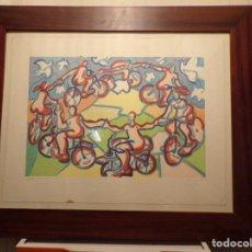Arte: LTOGRAFIA 6 DE 75 FIRMADA MUNNE, PERE MUNNE MARCO DE MADERA. Lote 232441480