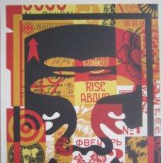 Arte: OBEY (SHEPARD FAIREY)-FIRMADA- OBEY 3FACE COLLAGE - LITOGRAFÍA -46X61CM. Lote 232636741