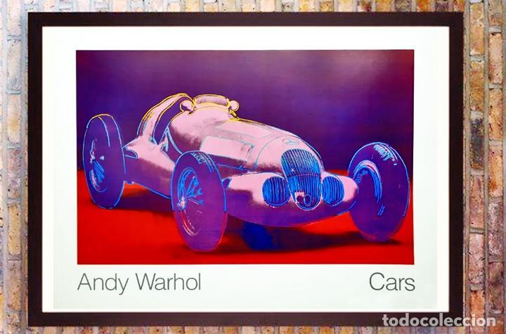 CARTEL ANDY WARHOL.CARS.MERCEDES BENZ FORMEL RENNWAGEN W 125. 1937-1986.ACHENBACH ART EDITION GALER (Arte - Litografías)